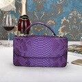2016 New Women Handbags Purple Serpentine Chains Cover Messenger Shoulder Bags Messenger Bag Crossbody Flap Totes Ladies Handbag