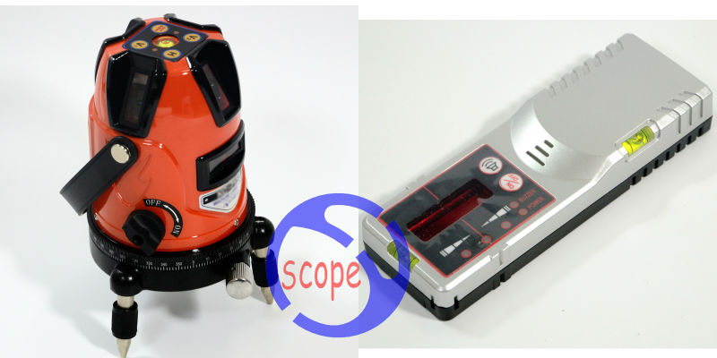 Free Shipping ! Cross ink Line Laser Level Instrument 5line 1 point laser level + Outdoor receiver все цены