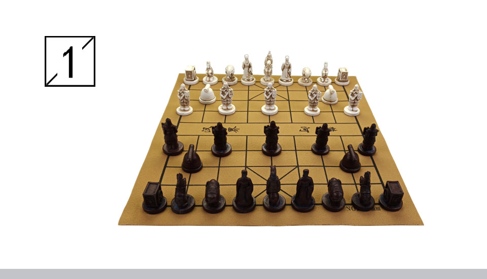 Yernea New Quality Traditional Chinese Chess Game Set Resin Chess Pieces  Soft Chessboard Archaize Retro Chess Board Games