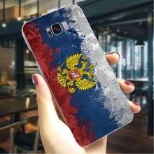 Russian Flag Hard Cover for Samsung Galaxy A5 2017 Pattern Phone Case for Samsung Galaxy A3 A5 A6 Plus A7 A8 Plus Back shell sword sao manga hard cover for samsung galaxy a6 plus 2018 shockproof phone case for samsung galaxy a50 a70 a3 a5 a6 plus