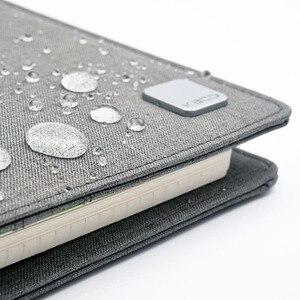 Image 4 - KACO ALIO 블랙 그레이 비즈니스 회의 선물 세트 A5 느슨한 나선형 노트북 개폐식 블랙 잉크 젤 펜 스토리지 패브릭 커버 세트