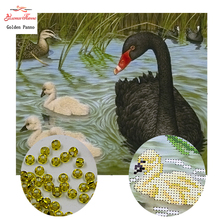 GoldenPanno Needlework DIY bead Cross stitch Embroidery stitch Goose mother and goose