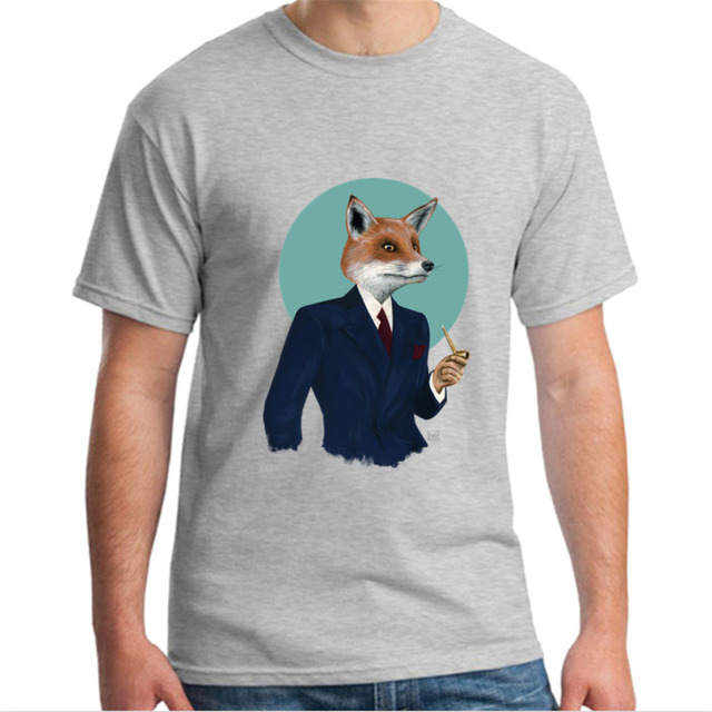 US $5 94 46% OFF|Plus Size T Shirt Men's Mr Fox T Shirt Maker Crew Neck  Costume Mens Crew Neck Tees Shirt-in T-Shirts from Men's Clothing on