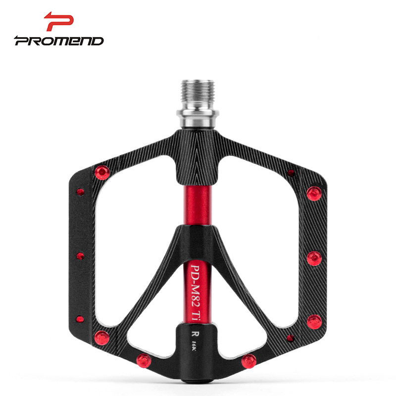 PROMEND Bicycle Pedal MTB Widened Pedals Road Cycling Sealed 3 Bearing Pedals Titanium UltraLight Bike Pedal Bicycle Parts wholesale price 2pcs chrome steel bicycle ball bearing rubber sealed for bike cycling bicycle self lubricated with grease
