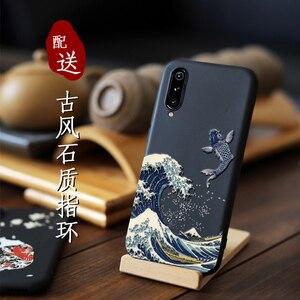 Image 3 - Xiaomi mi note 10 cc9 pro, mi9lite cc9, a3 cc9e 커버 카나가와 파도 잉어 크레인 3d 자이언트 릴리프 케이스