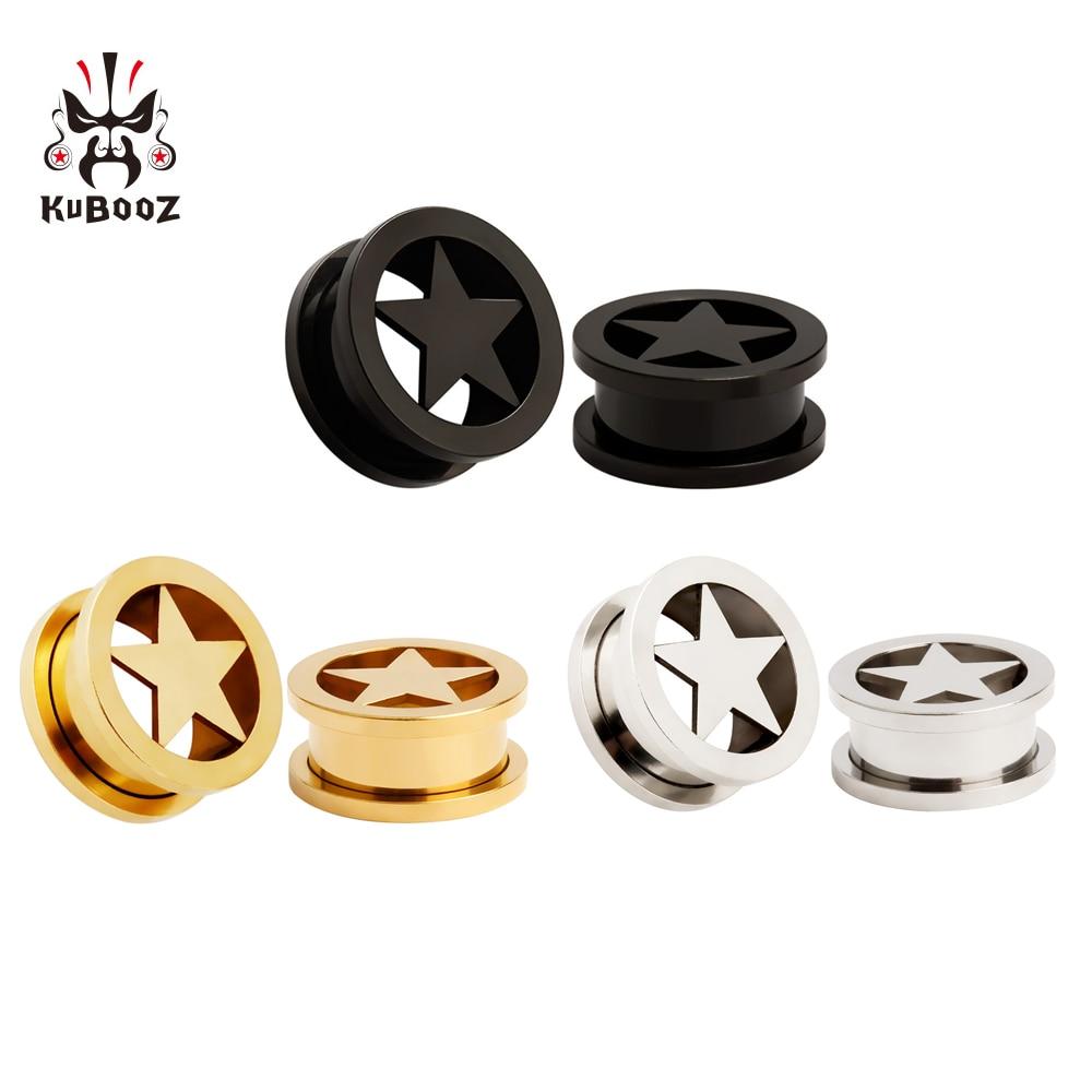 Купить серьги для пирсинга kubooz из нержавеющей стали с логотипом