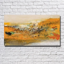 Large Wall Art Home Decoration Hand Painted Abstract Landscape Oil Painting On Canvas Wall Pictures For Living Room No Framed