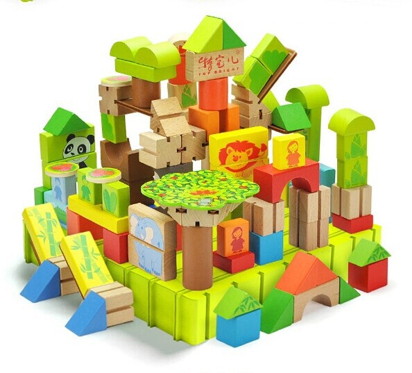 113pcsforest Adventureplay Theme Building Blocks Educational Infant And Toddle Toy Kids Preschool Creativity Developing