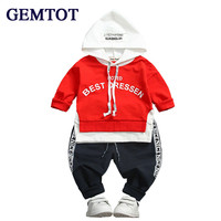 GEMTOT 0 3 Years Cotton 2017 Autumn Casual Active Children Baby Clothes Hoodies Pant 2pcs Kid