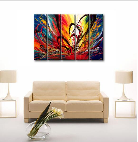 Colorful Canvas Painting For Bedroom Fashion Picture Of Color Meaning Oil Painting On Canvas Art