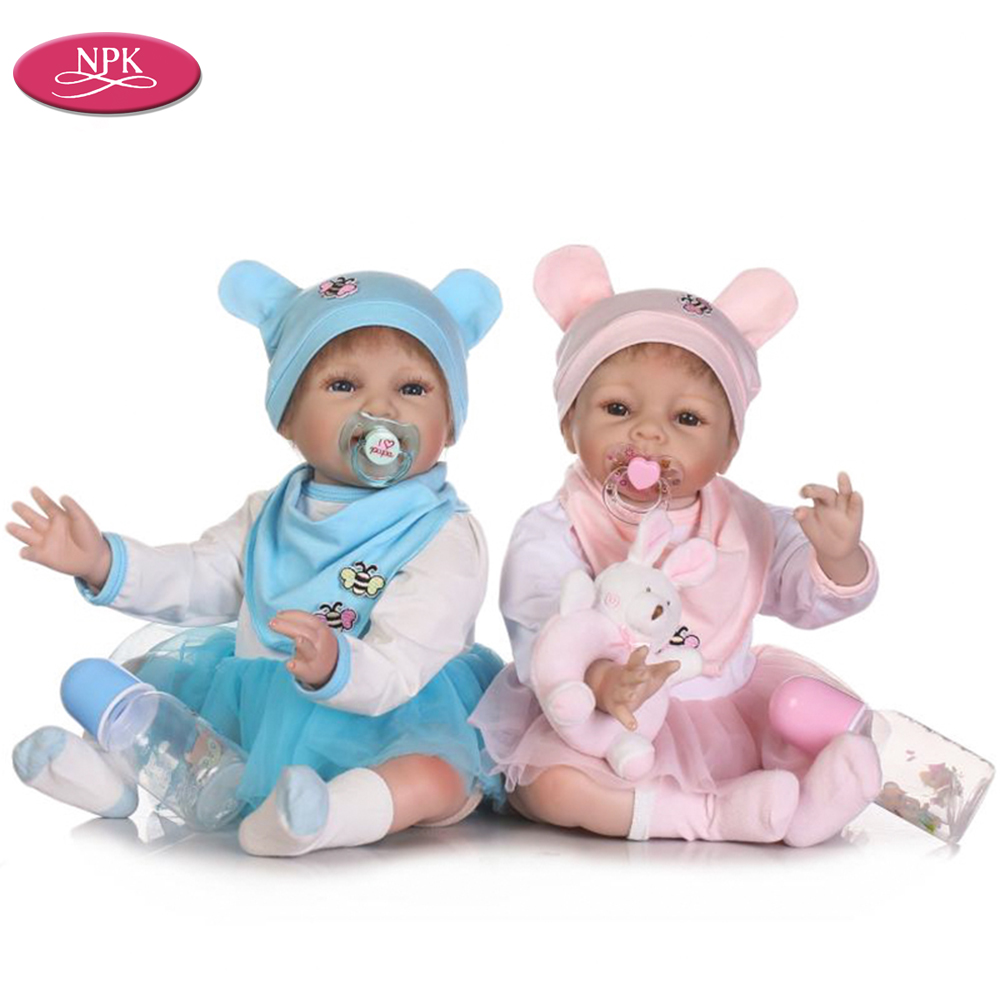 NPK Lifelike Alive Real Baby Twins Girl Reborn Doll ...