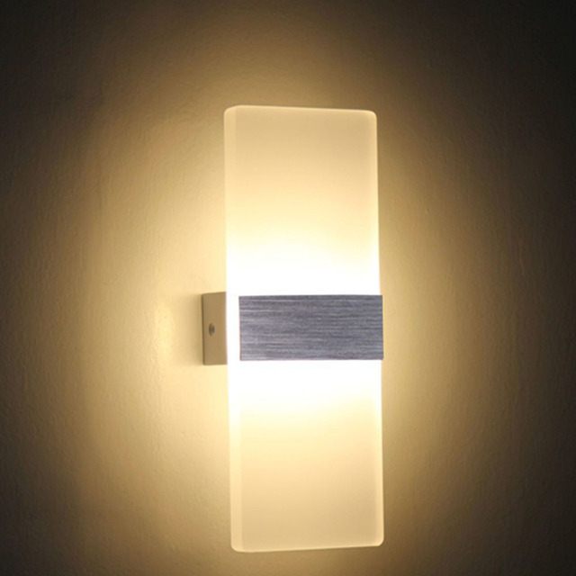 Tanbaby 6W 12W Led Wall Lamps Modern Acrylic Wall Sconce For Bedroom Living  Room Foyer Bathroom