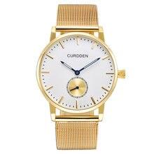 Curdden мужские часы Топ бренд Роскошные Мужские полностью стальные