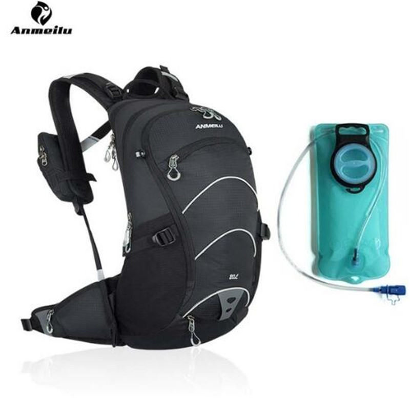 ANMEILU 20L Water Bag Bladder Cycling Hydration Backpack With Phone Bag Climbing Camping Hiking Bicycle Bike Bag Camelback anmeilu 20l rucksack 2l water bag waterproof hiking camping climbing cycling travel backpack outdoor bag hydration pack
