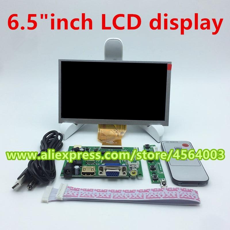 Tablero LCD de pantalla HD de 6,5 pulgadas, monitor de Control AT065TN14, HDMI, VGA, 2AV, para placa controladora raspberry orange banana pi, 800x480
