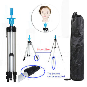 Image 5 - Adjustable Height Aluminium alloy  Wig Head Tripod Hairdressing Salon Mannequin Training head Holder 58CM 109CM