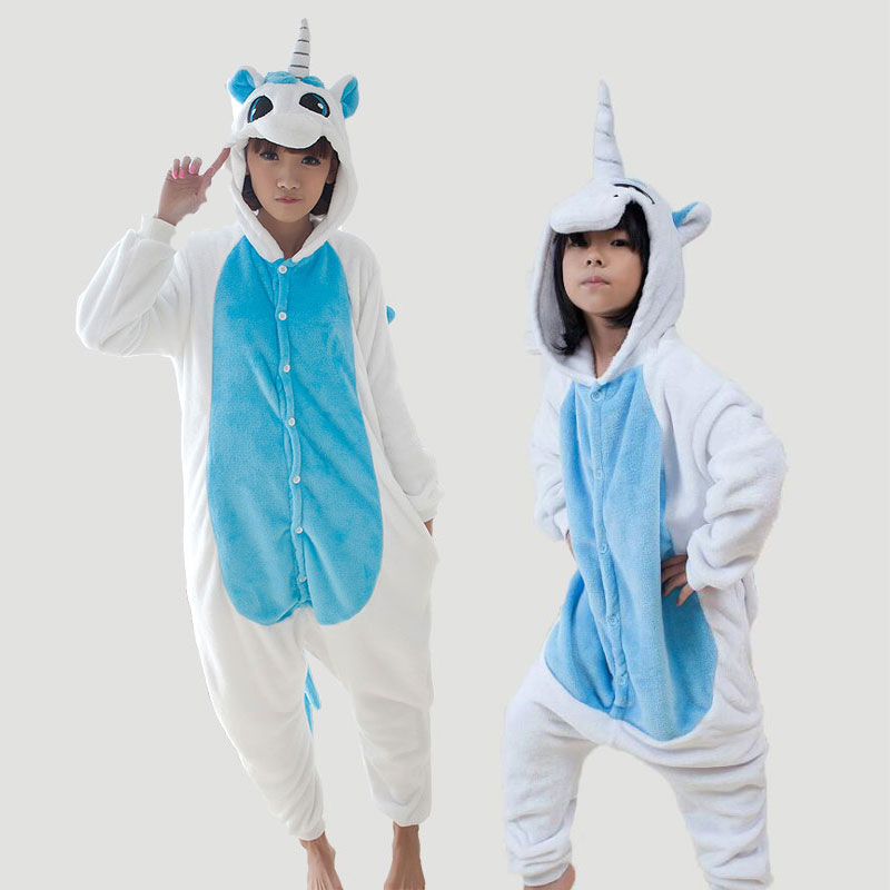 Funny Adults Onesie Unicorn Unicornio Mother Daugher Couple Family Pajamas Set Animal Pijamas Hombre Mujer TC024