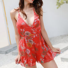 8cf377360ed (Ship from US) YOUYEDIAN 2019 new Stylish and fashion design for Womens  Floral Printting Cocktail Party Pencil Midi Rompers Jumpsuit  y40
