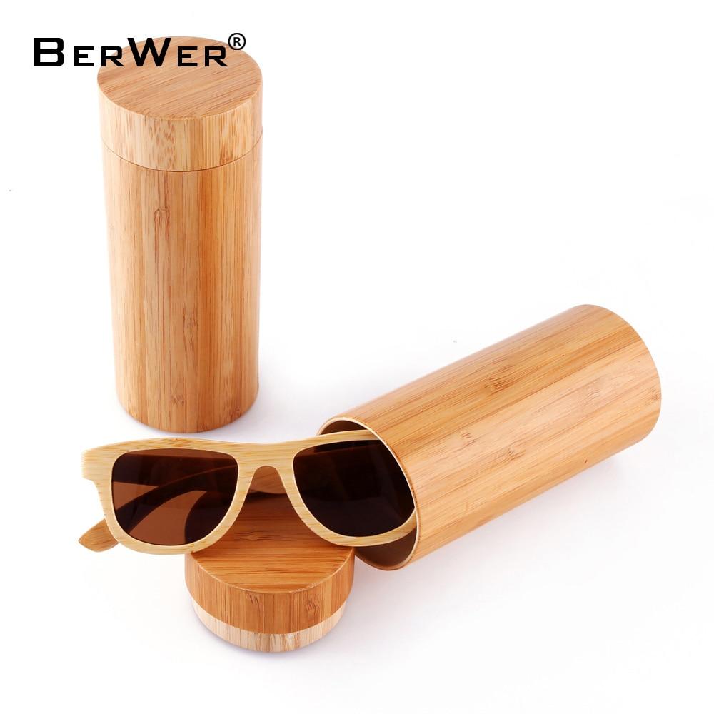 BerWer přírodní malé velikosti Dřevěné sluneční brýle Ženy Retro bambusové sluneční brýle Muži Polarizované Vintage Dřevěné Brýle