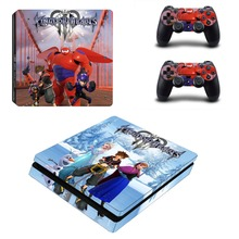 Kingdom Hearts 3 PS4 Slim Skin Sticker Vinyl For PlayStation 4 Console and Controllers PS4 Slim Skin Stickers Decal