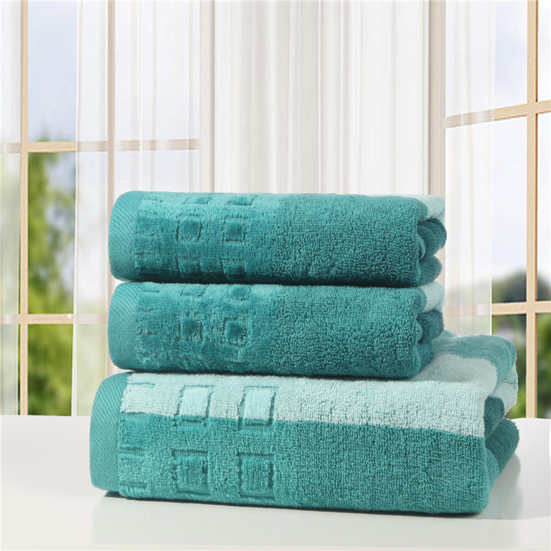 2016 Quick-Dry a lot 3pcs 100% cotton beach bath towels set gift for adults soft solid towels for children kid in bathroom