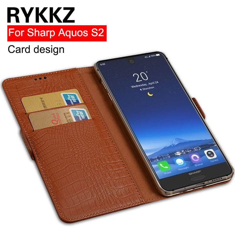 RYKKZ Genuine Leather Flip Cover Card For Sharp Aquos S2 Protective Stand Case Leather Cover For Sharp FS8010 Free ShippingRYKKZ Genuine Leather Flip Cover Card For Sharp Aquos S2 Protective Stand Case Leather Cover For Sharp FS8010 Free Shipping