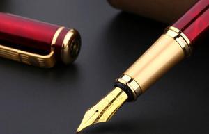 Image 4 - Picasso 902 Vulpen Pimio Picasso noble rode strepen 0.5mm penpunt Pennen Gold Clip Luxe Schrijven Levert 13.6*1.3 cm