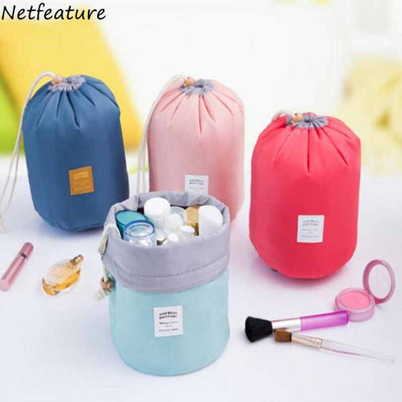 Travel Outside The Large Capacity Makeup Bag Wash Gargle BaoHu Waterproof Cylinder Toiletry Bags Storage bag 17*23CM