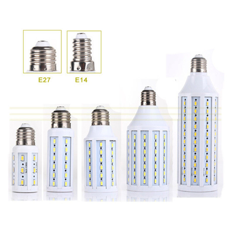 1Pcs CE E27 <font><b>E14</b></font> 5730 5630 SMD <font><b>LED</b></font> Corn <font><b>Bulb</b></font> AC 220V AC <font><b>110V</b></font> 5W 7W 12W 15W 25W 30W 40W 50W High Luminous Spotlight <font><b>LED</b></font> lamp light image