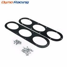 2pcs Black Rear Bumper Diffuser For Universal Car Air Diversion Panel