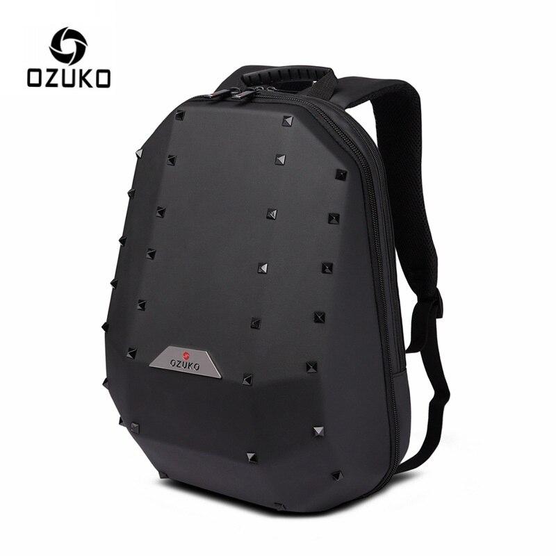 """OZUKO 15.6 """"محمول على ظهره للرجال الأزياء برشام الظهر حقيبة مدرسية ل المراهقين سفر حقيبة للماء حقيبة للنساء mochila-في حقائب الظهر من حقائب وأمتعة على  مجموعة 1"""