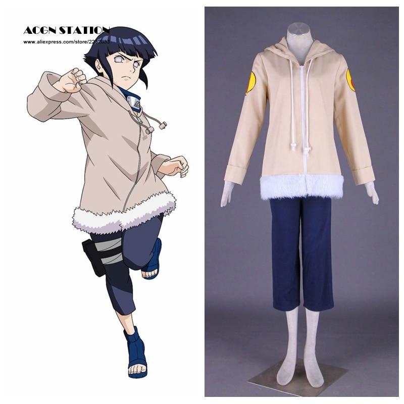 Naruto Cosplay Costume Hyuuga Hinata 1st Any Size