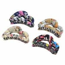 SHCXGQN 8cm Hair Claws for Women Chiffon Cloth Clip Claw Barrettes Combs Female Girls Accessories Headwear