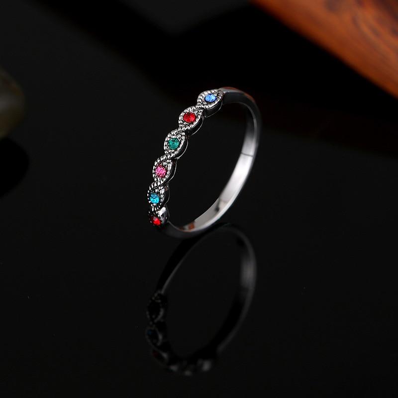 Mode Högkvalitativa Vintage Smycken Antika Silverfärg Svart - Märkessmycken - Foto 5