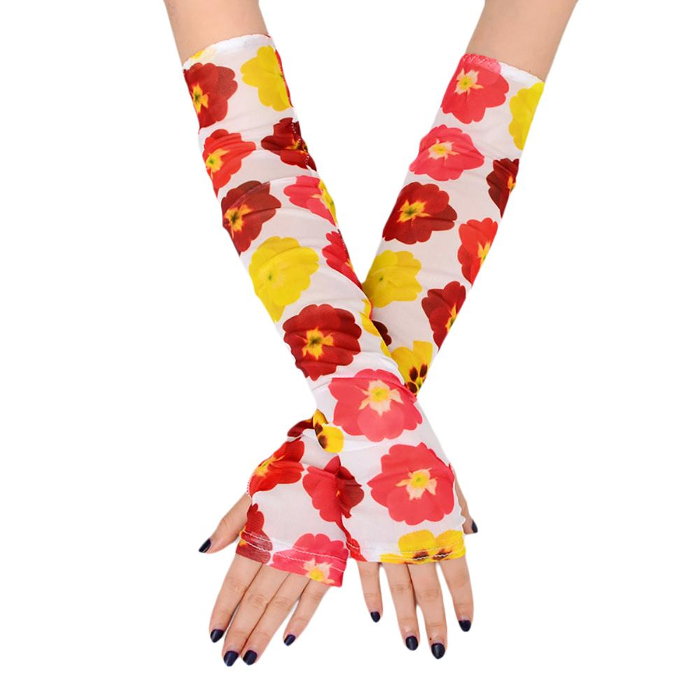1 Pair Of Sun Protection Arm Sets Outdoor Anti-Mosquito Sunscreen Printing Ice Silk Arm Sets Driving Arm Guards Anti-UV Sleeves