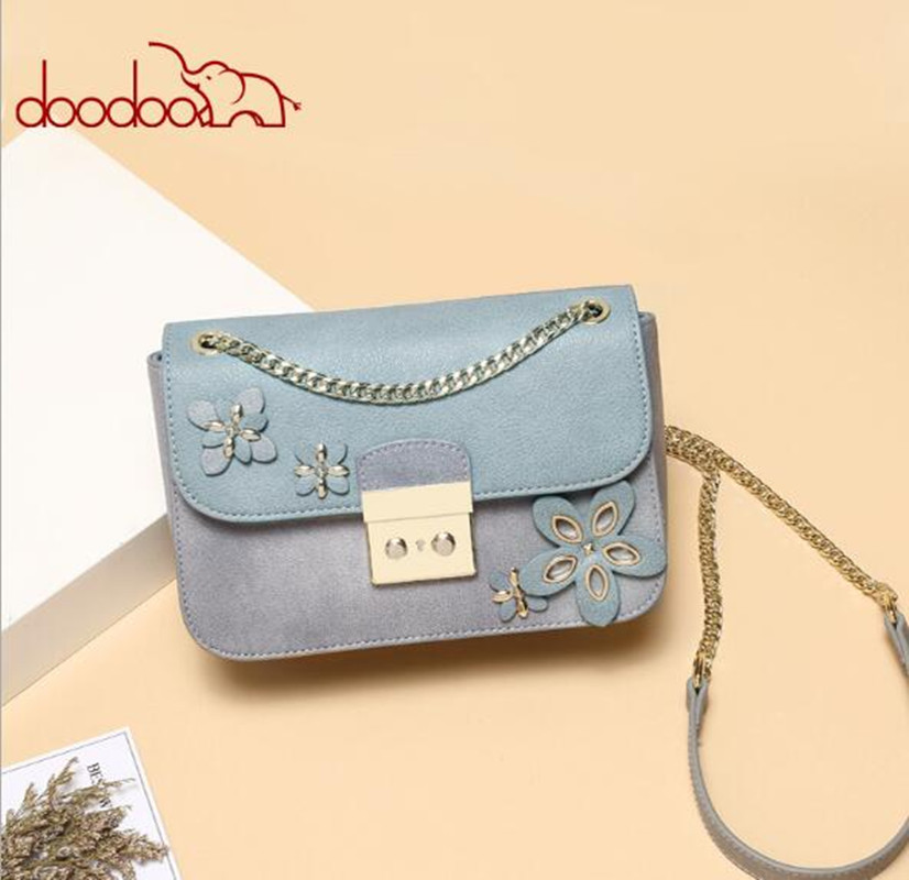 DOODOO Brand female bag shoulder ladies women PU leather handbag 2018 woman flower bags handbags women chain flap bolsos FR616DOODOO Brand female bag shoulder ladies women PU leather handbag 2018 woman flower bags handbags women chain flap bolsos FR616