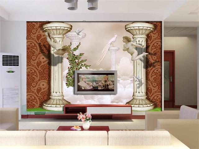 3d behang/custom kamer muurschildering/fotobehang/FRP Kolommen angel ...