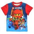 Мальчики одежда ninjago рубашки для мальчика 2015 новая мода высокого качества лето топы с коротким рукавом футболка