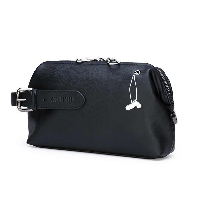 Famous brand design men Mobile phone bag Men's clutch bag large-capacity business casual clutch bag man genuine leather handbag