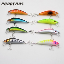 Hot sell new  Cheap 1PCS Artificial Colorful carp with 3D eyes Hard curve Crank lures simulation plastic baits fish Tackle tools