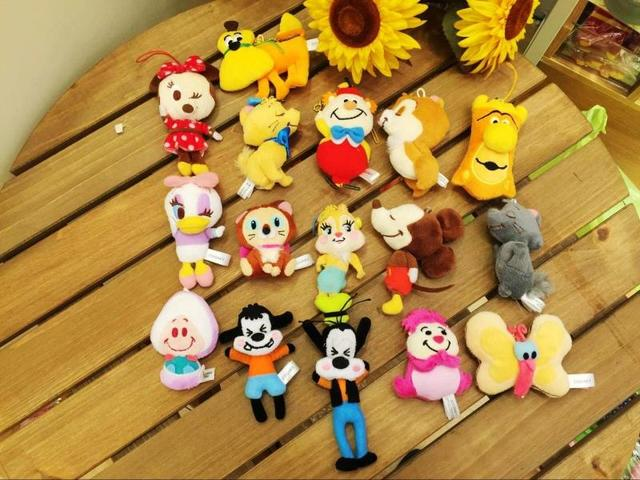 Original Rare Mini Doll Plush Toy Alice in the Wonderland Hedgehog Dog Beauty and Beast Mini Toy Gift Collection