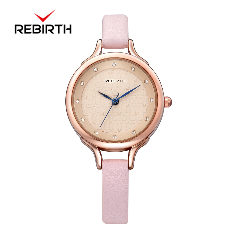 REBIRTH Fashion Wrist Watch Women Watches Ladies Luxury Brand Famous Quartz Watch Female Clock Relogio Feminino Montre Femme classic simple star women watch men top famous luxury brand quartz watch leather student watches for loves relogio feminino