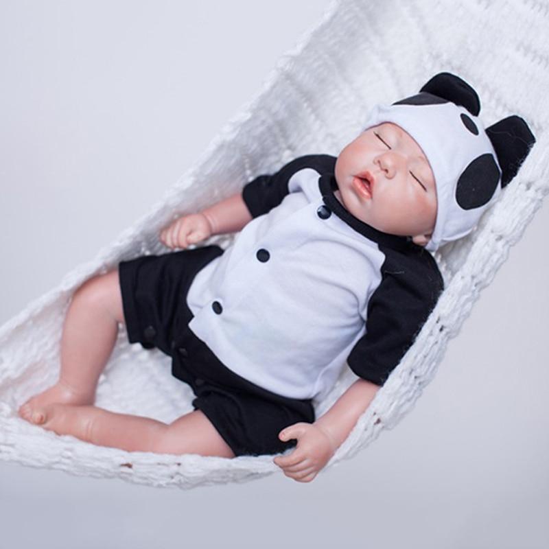 20 Reborn Baby Doll  Body Full of Soft Vinyl Material Newborn Boy and Girl Dolls Sleeping Baby Model Environmentally Friendly economic newborn baby model flexible full term baby doll