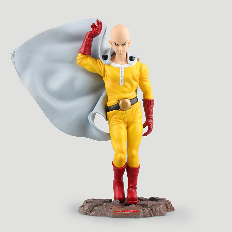 Action Figure One Punch Man Figure Saitama Sensei Figure One-Punch Man 240MM PVC Kids Toys Juguetes Model Doll Toy Gift