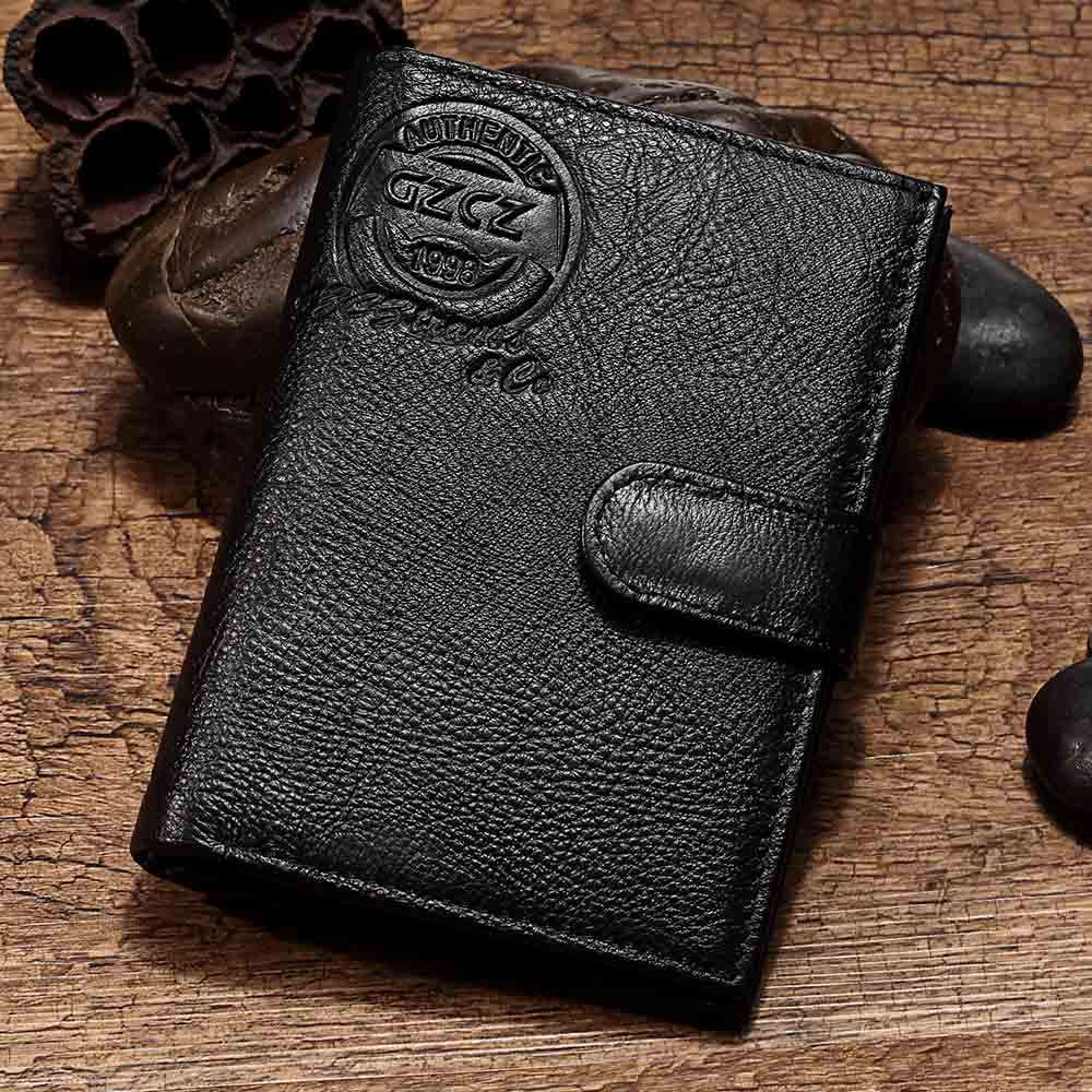 GZCZ Men Wallet Purse-Bag Designer Short Casual Portefeuille Homme