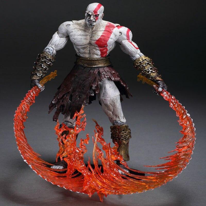 GZTZMY NECA God of War 2 Figures Kratos Action Figure Kratos in Golden Fleece Armor with Medusa Head Toy for kids gifts (7)