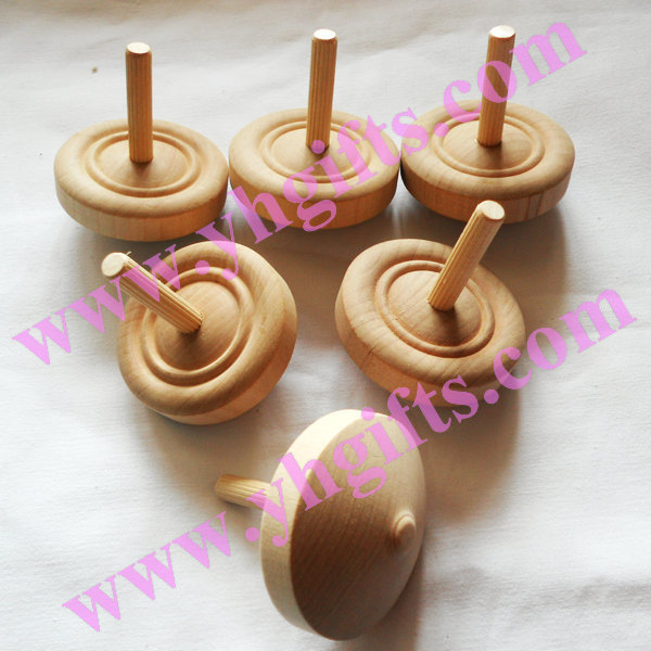 High Quality No Paint Wooden Spinning Tops Diy Gyroscope Toys Kids Toy Art Craft