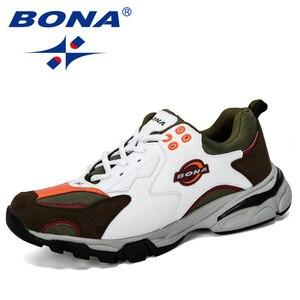 Image 5 - BONA/Новинка; Дизайнерская спортивная обувь; Мужские кроссовки; Мужская обувь для бега; Уличная спортивная обувь; Мужская теннисная обувь; Мужская обувь для бега