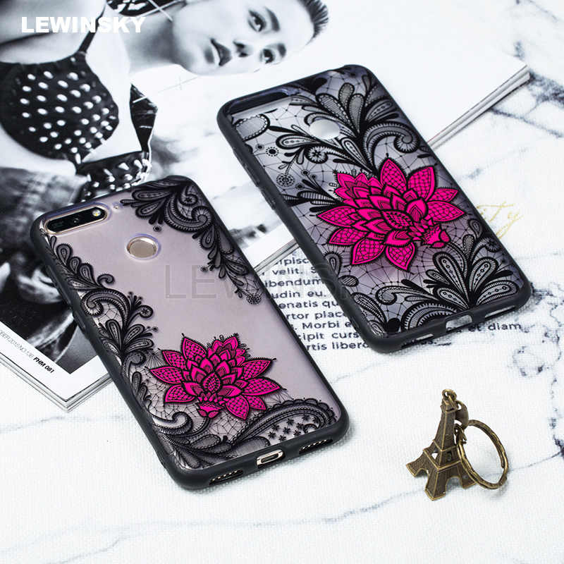 3D Relief Floral Case For Huawei Y5 Y6 Prime Y9 2018 P10 P9 P8 P20 lite 2017 mate 10 P Smart Case On Honor 7C 7A Pro 7X 9 8 lite
