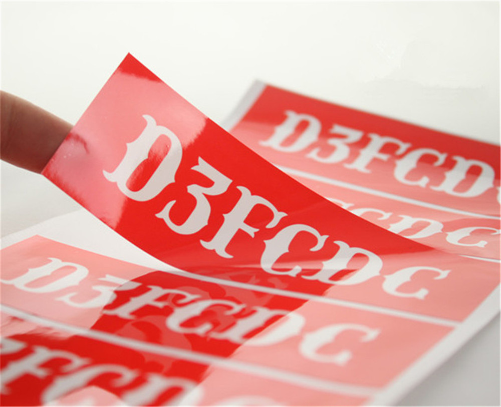 1000pcs customized digital printed glossy brand logo stickers custom vinyl laminated pvc labels gift packaging labels